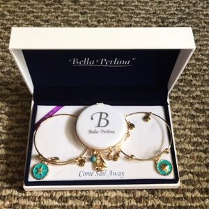 Bella Perlina come sail away bracelet set New gold
